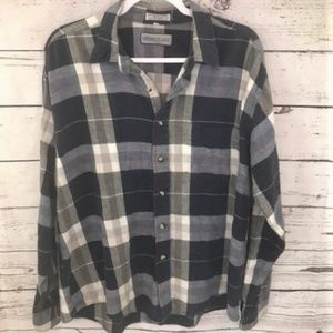 Members Only vintage plaid flannel button down